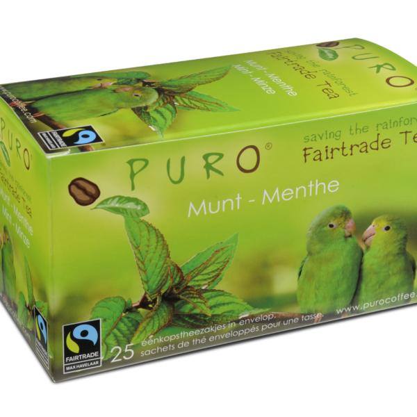 Puro Fairtrade – Green Mint Tea